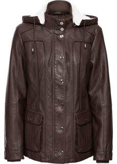 Куртка из искусственной кожи (темно-коричневый) Bonprix