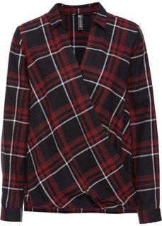 Клетчатая блузка (красный каштан в клетку) Bonprix