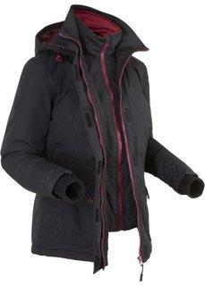 Куртка дизайна 2 в 1 на ватной подкладке (черный) Bonprix