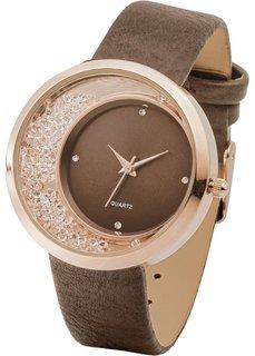 Наручные часы со стразами (серебристый) Bonprix