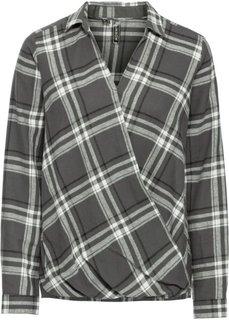 Клетчатая блузка (темно-серый в клетку) Bonprix