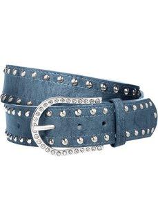 Ремень Стразы (синий джинсовый) Bonprix