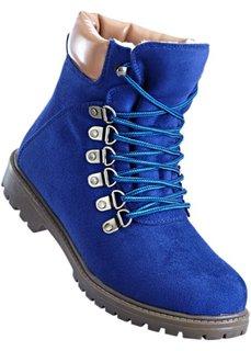 Ботинки на шнуровке (темно-синий/кремовый) Bonprix