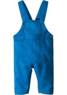 Для малышей: трикотажные брюки из органического хлопка на подтяжках (лазурный) Bonprix