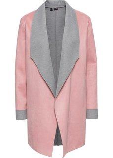Блейзер с имитацией замши (дымчато-розовый/светло-серый) Bonprix