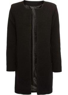 Пальто из текстурного материала (черный) Bonprix