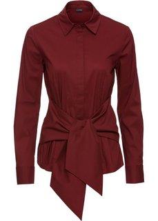 Блузка с эффектом запаха (темно-красный) Bonprix