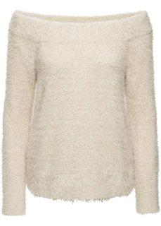 Вязаный пуловер (каменно-бежевый) Bonprix