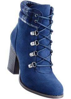 Ботильоны на шнуровке (темно-синий) Bonprix