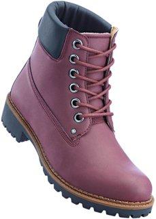 Ботинки (бордовый) Bonprix