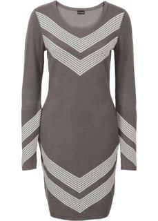 Вязаное платье (темно-серый) Bonprix