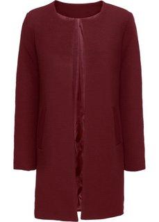 Пальто из текстурного материала (бордовый) Bonprix