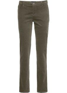 Бархатистые брюки (темно-оливковый) Bonprix