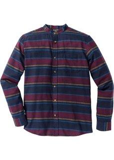 Фланелевая рубашка Slim Fit с длинным рукавом (яркие полоски) Bonprix