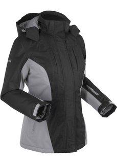 Функциональная куртка на ватной подкладке и с капюшоном (черный) Bonprix