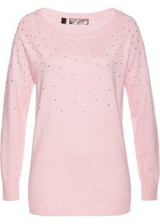 Длинный пуловер (нежно-розовый) Bonprix