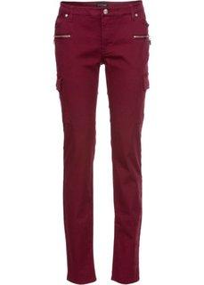 Эластичные брюки-карго Skinny (темно-бордовый) Bonprix