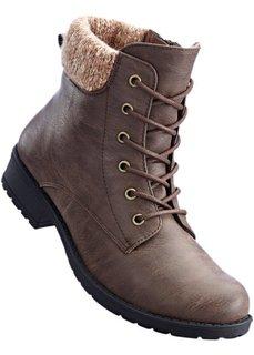 Ботинки на шнурках (коричневый) Bonprix