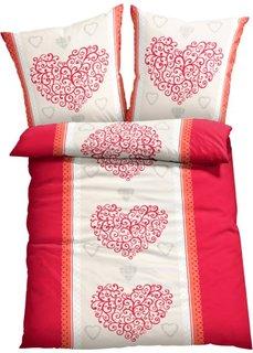 Постельное белье Свеа, линон (кремовый/красный) Bonprix