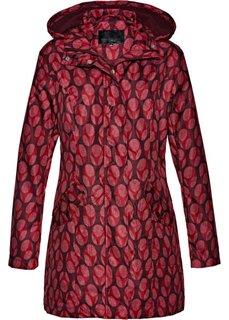 Удлиненная куртка с принтом (кленово-красный/белый с рисунком) Bonprix