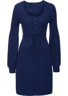 Вязаное платье (темно-синий океан) Bonprix