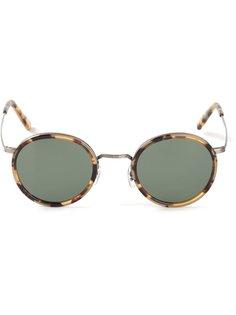 солнцезащитные очки в круглой оправе Masunaga