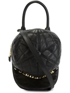 стеганая сумка в виде кепки Moschino