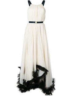 вечернее платье с борками Maria Lucia Hohan