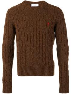 вязаный свитер с косами Ami de Cœur Ami Alexandre Mattiussi