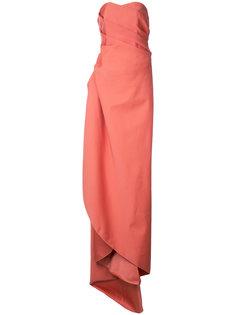 длинное платье без бретелей  Paule Ka