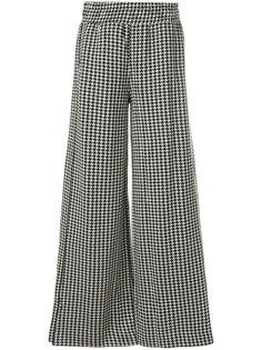 брюки-палаццо в ломаную клетку  By Malene Birger