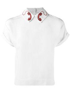 рубашка с аппликациями в виде телефонов Olympia Le-Tan