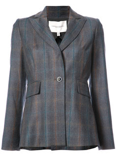 plaid single button blazer Carolina Herrera