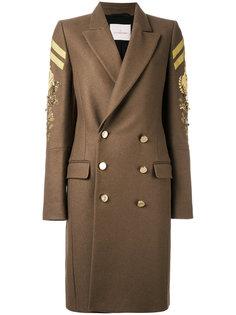 двубортное пальто в стиле милитари A.F.Vandevorst