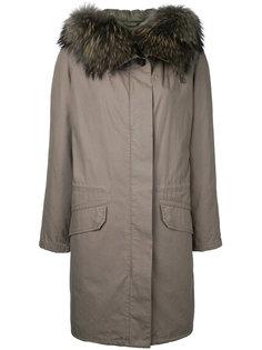 пальто с меховой оторочкой  Army Yves Salomon
