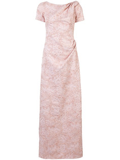 bead embellished gathered dress Carolina Herrera