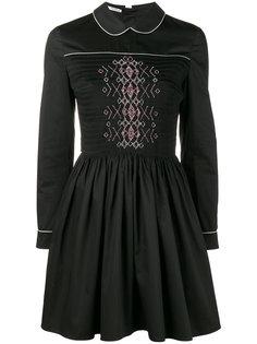 платье с контрастной отделкой Miu Miu