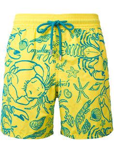 шорты для плавания с принтом крабов Vilebrequin