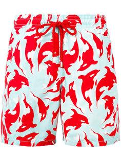 шорты для плавания с цветочным принтом Vilebrequin