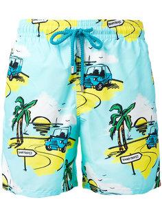 шорты для плавания с тропическим принтом Vilebrequin