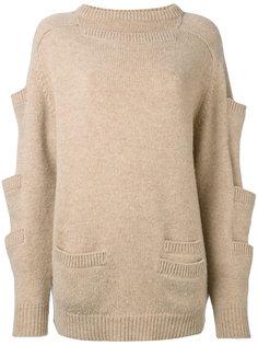 свитер с карманами на рукавах Christopher Kane