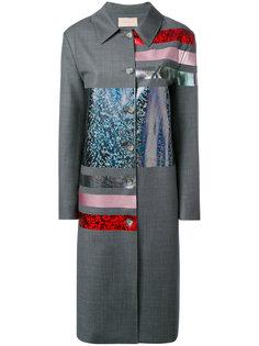 удлиненное пальто с блестящей отделкой Christopher Kane