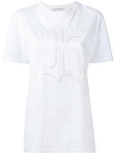 футболка с принтом в виде буквы К Christopher Kane