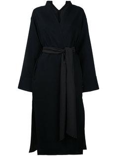 пальто с узким воротником-стойкой Rito