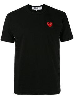 футболка с вышивкой сердца Comme Des Garçons Play