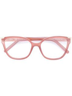 очки в оправе кошачий глаз Chloé Eyewear