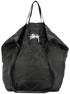 сумка-тоут с принтом-логотипом Stussy