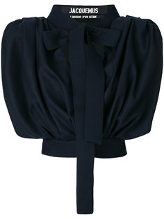 укороченная блузка с бантом Jacquemus