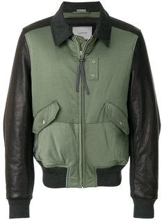 куртка-бомбер  с контрастными панелями Lanvin
