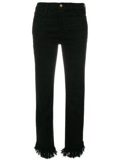 укороченные джинсы с необработанным подолом Frame Denim